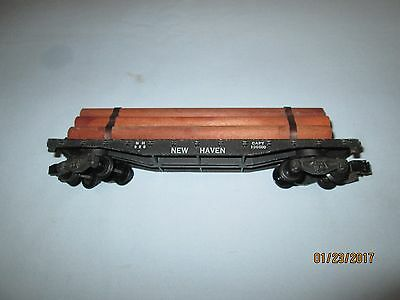 American Flyer #928 New Haven Flat Car with Logs. Excellent Condition
