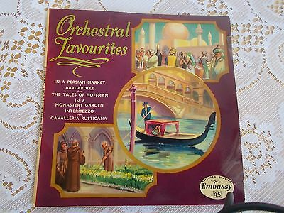 "ORCHESTRAL FAVOURITES Lionel Hale (1958 7"" EP Vinyl single) EX/EX+ with PS"
