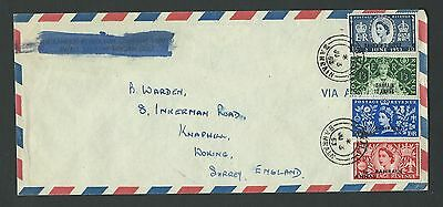 GB STAMPS OVERPRINTED BAHRAIN FDC SG 90-93 FULL SET. DATED 3rd June 1953 (1)