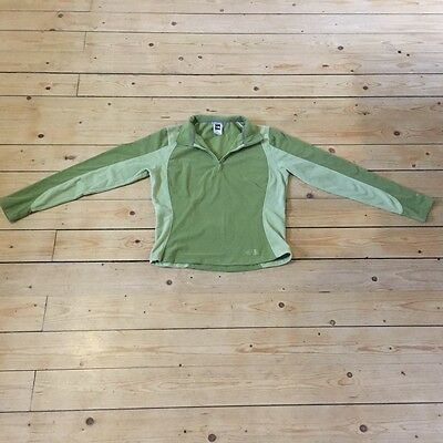 North Face Womens Stretch Fleece Half Zipper Top Outdoor Ski Walk Hike Size M