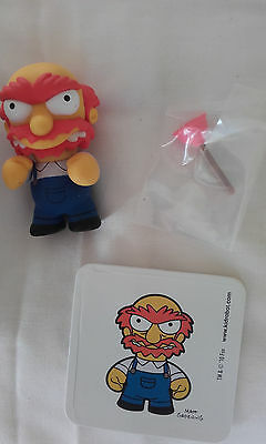 Kidrobot The Simpsons Series 2 Groundskeeper Willie figure with sticker, box etc