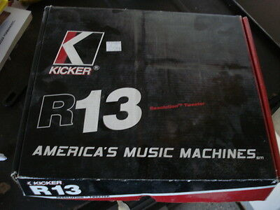Kicker R13 Resolution Tweeters With Crossovers