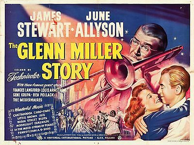 """The Glenn Miller Story 1954 16"""" x 12"""" Reproduction Movie Poster Photograph"""