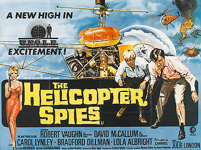 """The Helicopter Spies 1968 16"""" x 12"""" Reproduction Movie Poster Photograph"""