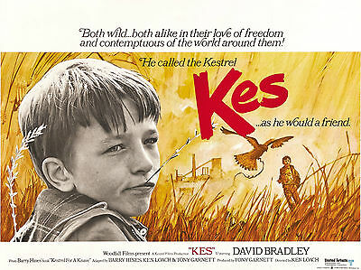 "Kes 1969 16"" x 12"" Reproduction Movie Poster Photograph"