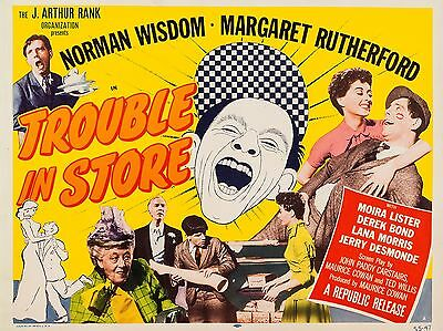 """Trouble in Store 16"""" x 12"""" Reproduction Movie Poster Photograph"""