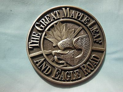 Great Maple Leaf and Eagle Road Railroad Paperweight