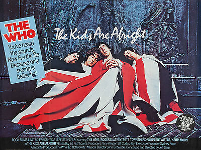 """The Kids are Alright 1979 16"""" x 12"""" Reproduction Movie Poster Photograph"""