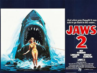"""Jaws 2 1978 16"""" x 12"""" Reproduction Movie Poster Photograph"""