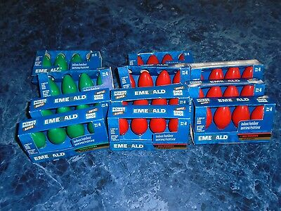 44 Replacement Christmas Lights  Indoor / Outdoor Intermediate Base   Red/Green