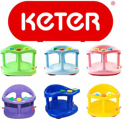 Baby Bath Ring Seat KETER Infant Tub Safety Anti Slip Chair Genuine Color