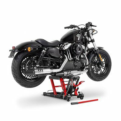 Motorcycle workshop lift Yamaha XVS 1300 A Midnight Star red-black