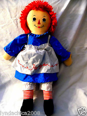 HUGE Raggedy Ann Rag Doll (29 INCHES) Made by Applause