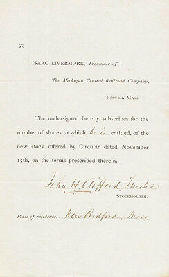 John H. Clifford - Document Signed