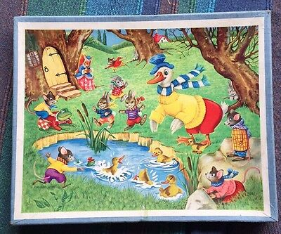 Vintage Victory Picture Puzzle Jigsaw Wooden Boxed 30pc Children's