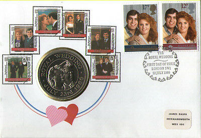 Numisbrief Großbritanien - Royal Wedding  1986