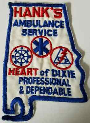 Hank's Ambulance Service Heart of Dixie Professional & Dependable Cloth Patch