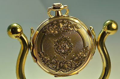 Elegant 1922Antique yellow gold filled Elgin pocket watch open face 15J size12
