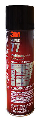 3M SUPER 77 SPRAY GLUE ADHESIVE CAN for FOIL PLASTIC PAPER FOAM METAL FABRIC