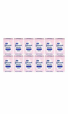 12 Pack Johnson's Baby Bar Soap, Paraben Free - 3 oz Each