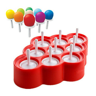 Silicone Ice Pop Molds 9 Cavity Silicone Mini DIY Ice Pop Maker, Popsicle Mold