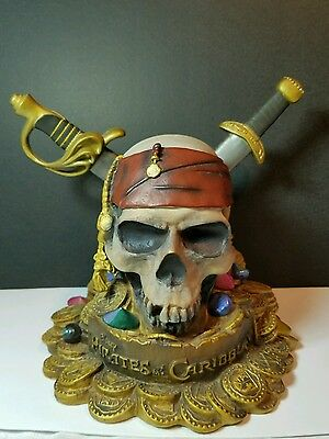 Pirates of the Caribbean Large Coin Bank Skull Daggers Disney Store
