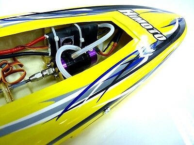 Yellow Crosswinds 1/6 Scale Brushless ARTR RC Remote Control speed Racing Boat