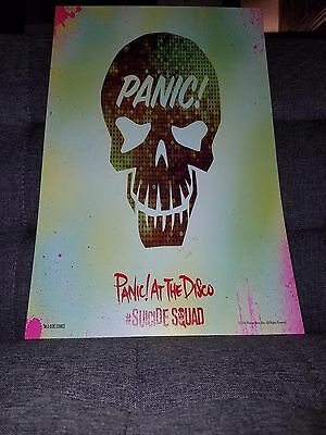 Panic! At the Disco Suicide Squad poster Panic At the Disco concert shirt poster