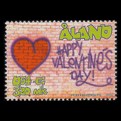 Aland 2001 - Valentines Day Greeting - Sc 186 MNH