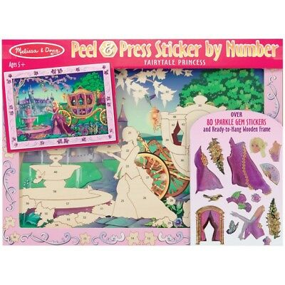 Melissa and Doug Peel & Press Sticker by Number - Fairytale Princess