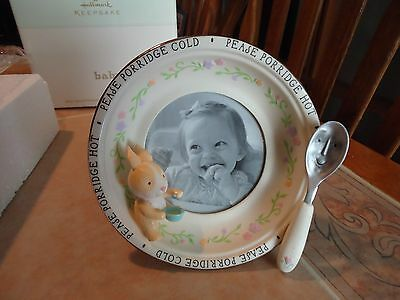 Hallmark baby keepsake frame in box in the shape of a bowl with spoon