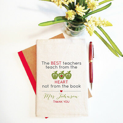The Best Teacher Personalised Teacher Notebook With Reusable Cover Gift