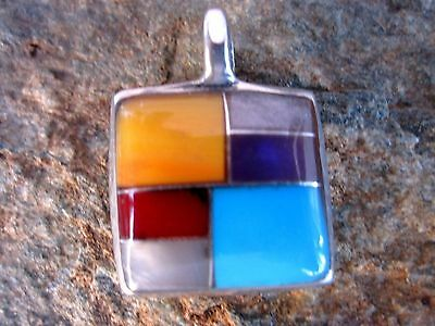 Handcrafted Stone Inlay Pendant Made by Artesanas Campesinas Pendant New mp155