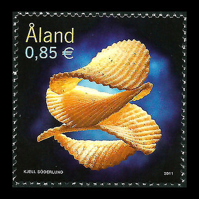 Aland 2011 - Potato Chips Foot Gastronomy - Sc 318 MNH