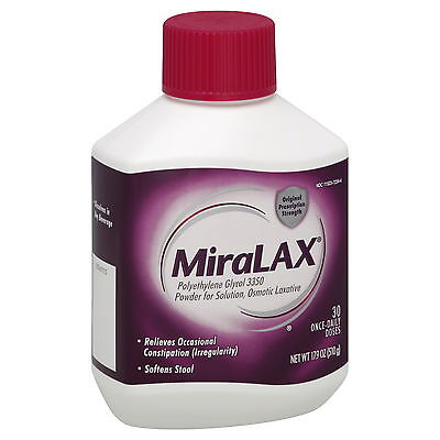 MiraLAX Laxative Powder 30 Once-Daily Dose 17.9 oz (510 g)