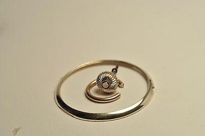 Antique 10K Solid Gold Swiss pocket watch Bow and Bezel and crown