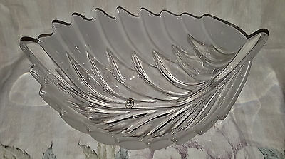Studio German Glass Bowl, Clear and Frosted (R16062001)