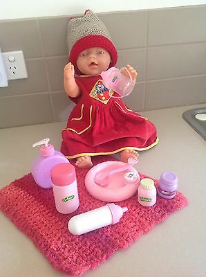 Baby Born Doll Pink Eyes + Accessories