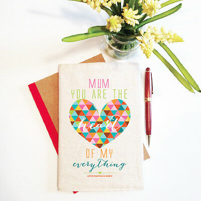 The Heart Of My Everything  Mother's Day Notebook With Reusable Cover Gift