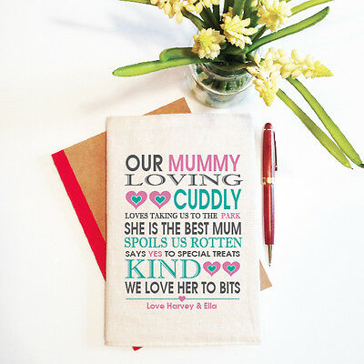 Our Mummy Mother's Day Personalised Notebook With Reusable Cover Gift