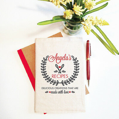 Recipes Made With Love Mother's Day Notebook With Reusable Cover Gift