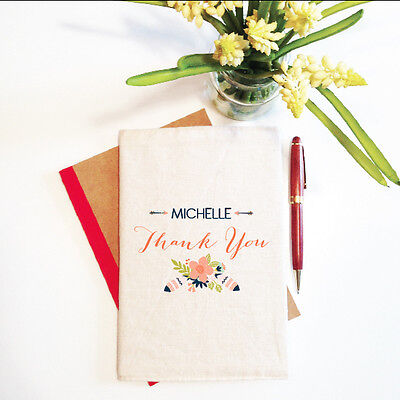 Thank You Personalised Mother's Day Notebook With Reusable Cover Gift