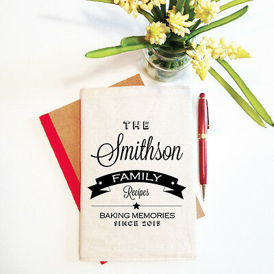 Family Baking Personalised Mother's Day Notebook With Reusable Cover Gift