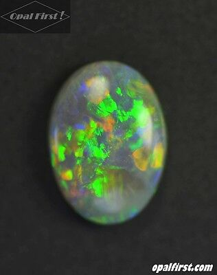 0.42 ct natural solid black opal from Lightning Ridge  Australia by Opal First !