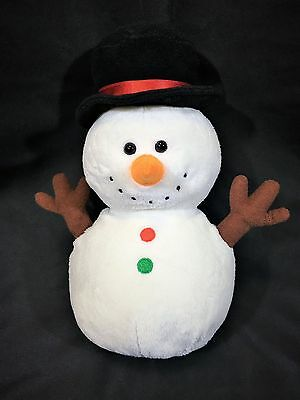 TY PLUFFIES TWIGS SNOWMAN 2011 TYLUX Baby Plush Stuffed Animal Bean Bag Retired
