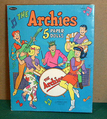 1969 Archie's Paper Dolls by Whitman-Archie/Jug head/Betty/Veronica/Reggie