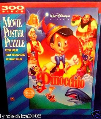 PINOCCHIO MOVIE PUZZLE By Golden (300 PIECES) COMPLETE