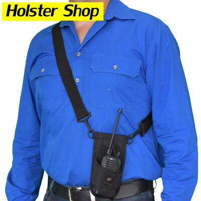 UHF Hand Held Two Way Radio Lanyard Pouch Harness Holster Holder - Joey HOLHL1BK