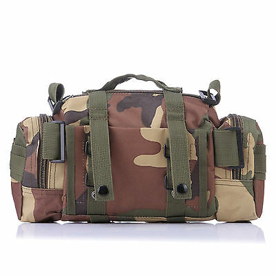 New 1 x Outdoor Backpack Bag Camouflage Tactical Wais Belt Camping Hiking Wallet