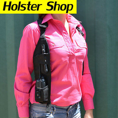 UHF GPS 2 Way Radio Holster Holder Security Style - Concealed RHS HOLHCRBK